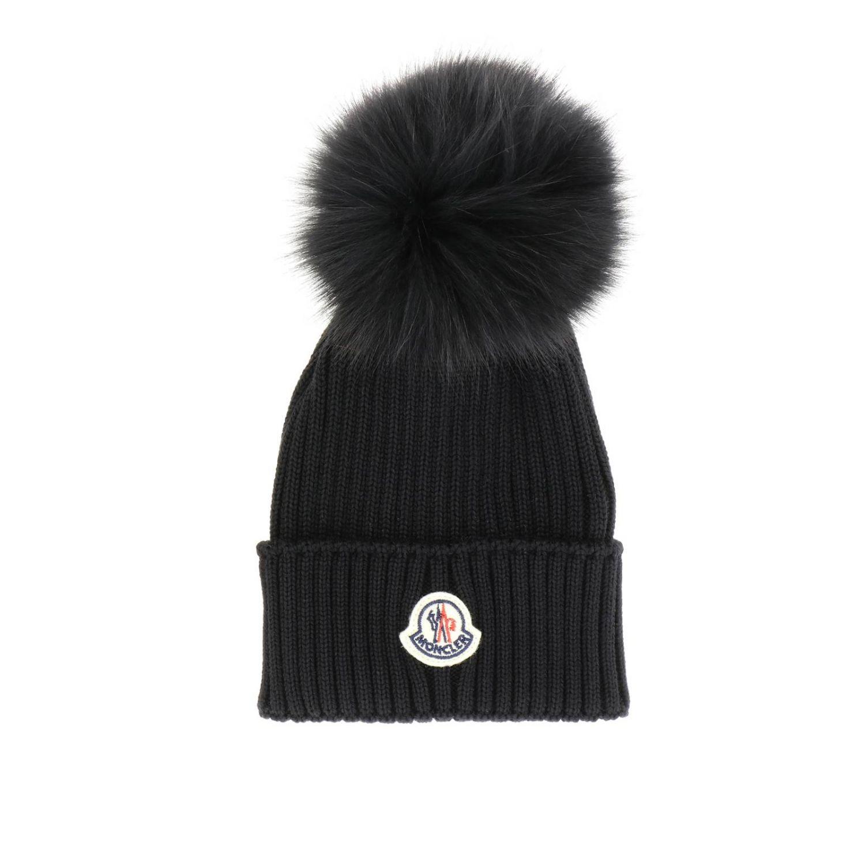 女童帽子 儿童 Moncler 黑色 1