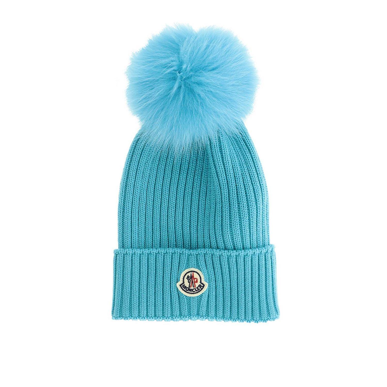 Hat girl kids Moncler gnawed blue 1