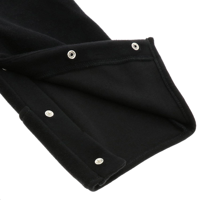 Tutina Moncler in pile con cappuccio nero 3