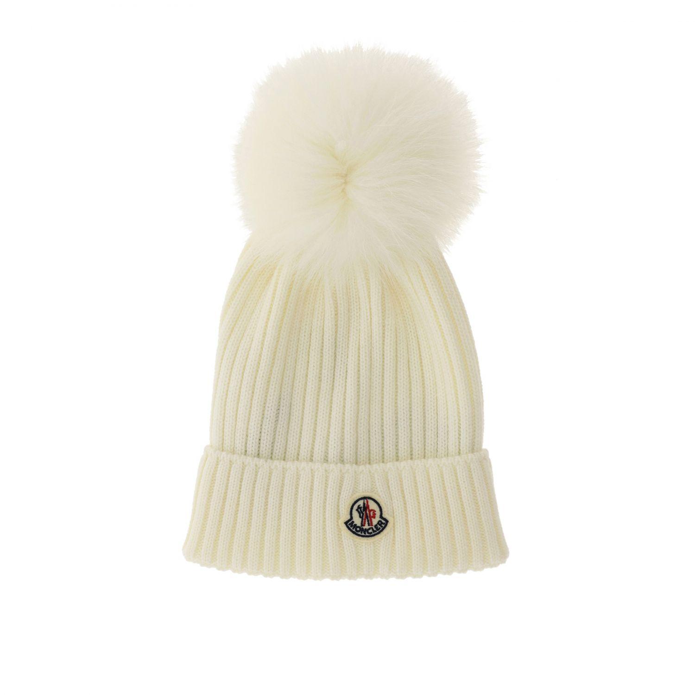 Hat girl kids Moncler white 1