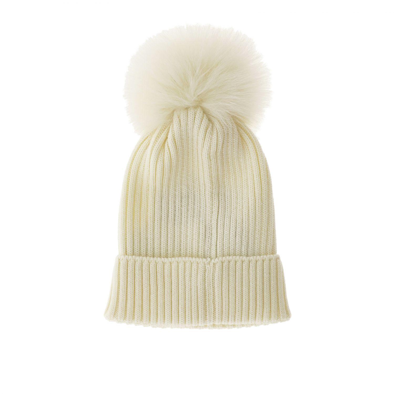 Hat girl kids Moncler white 2