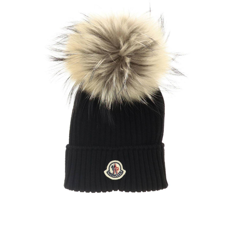 Hat girl kids Moncler black 1