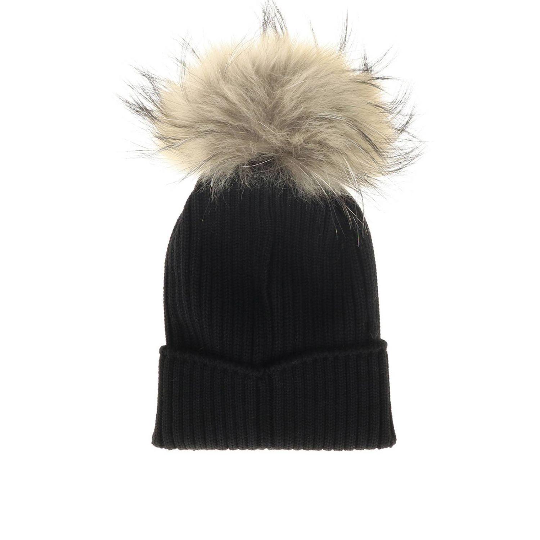 Hat girl kids Moncler black 2