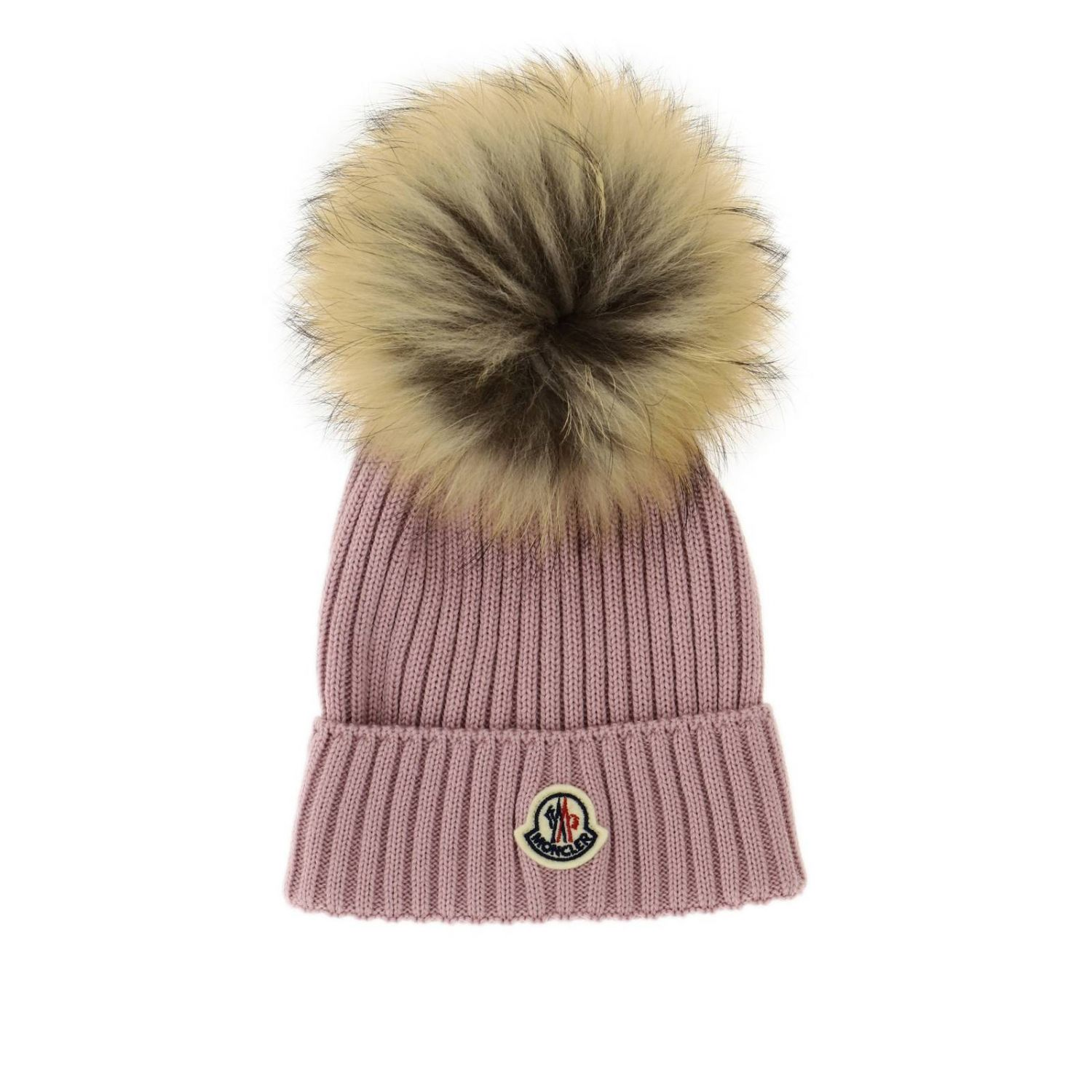 Hat girl kids Moncler pink 1