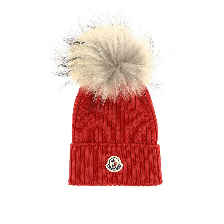 Hat girl kids Moncler red 1