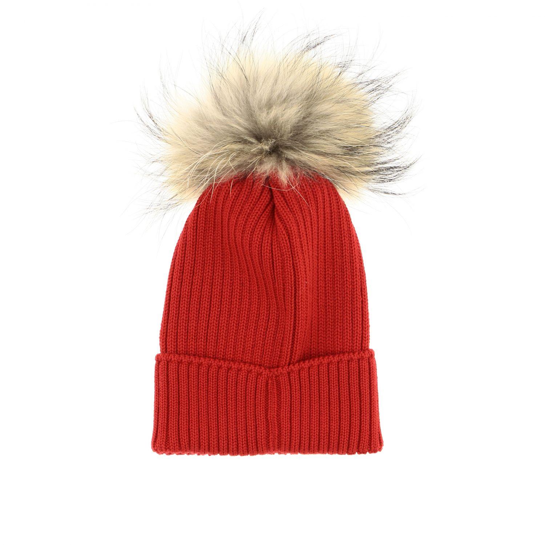 Hat girl kids Moncler red 2