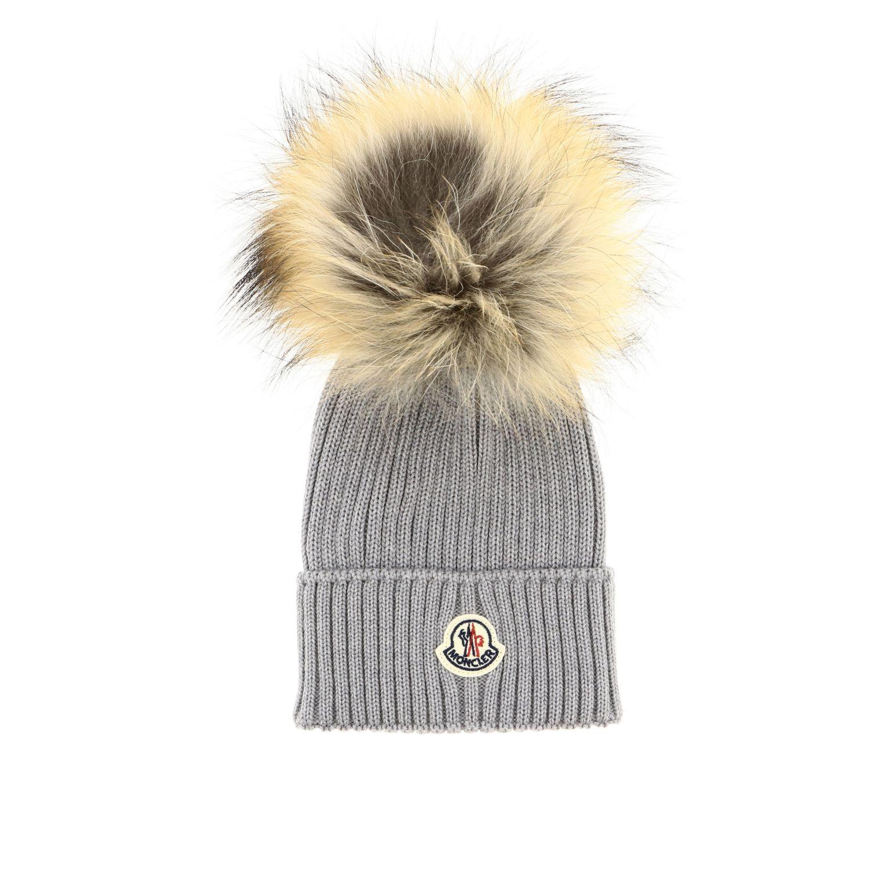 Hat girl kids Moncler grey 1