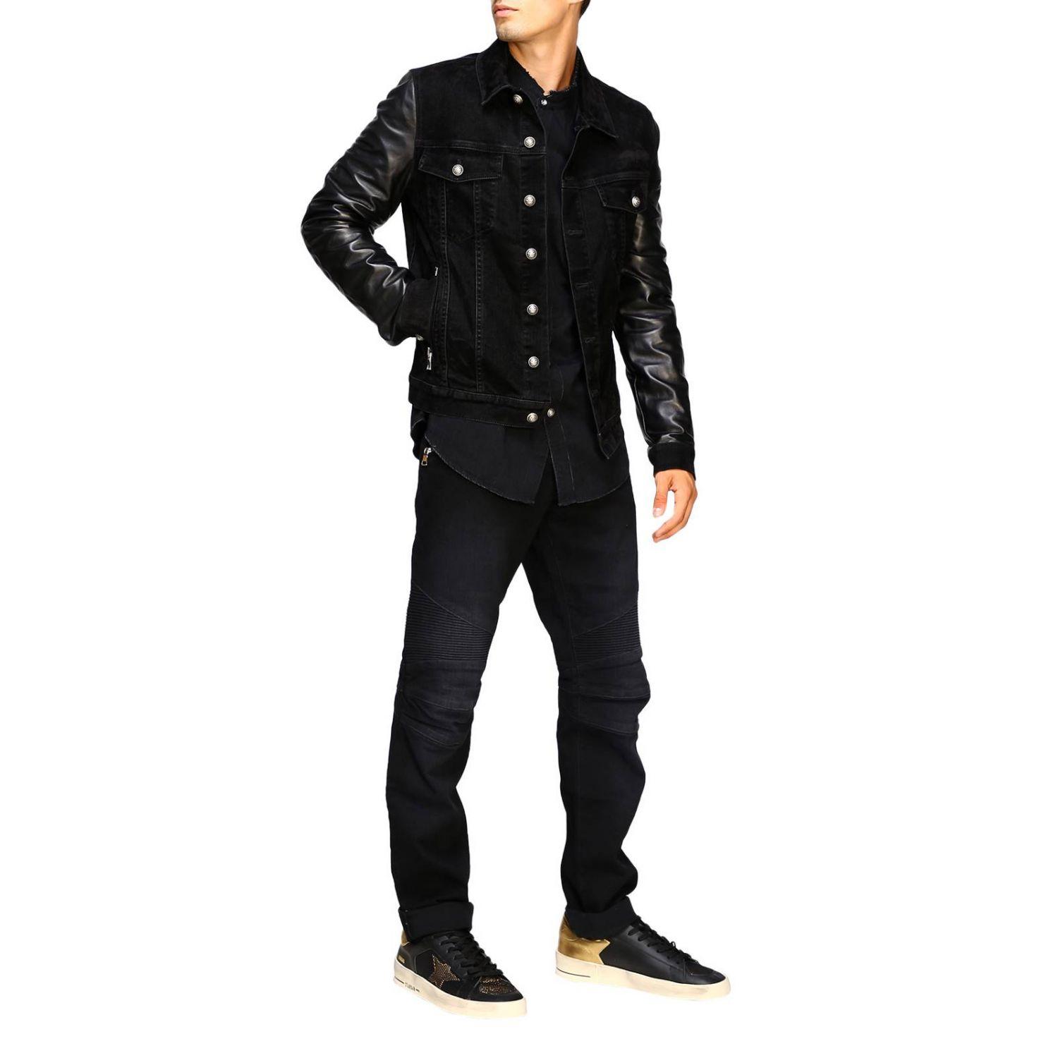 Balmain Camicia Denim con logo dietro nero 2
