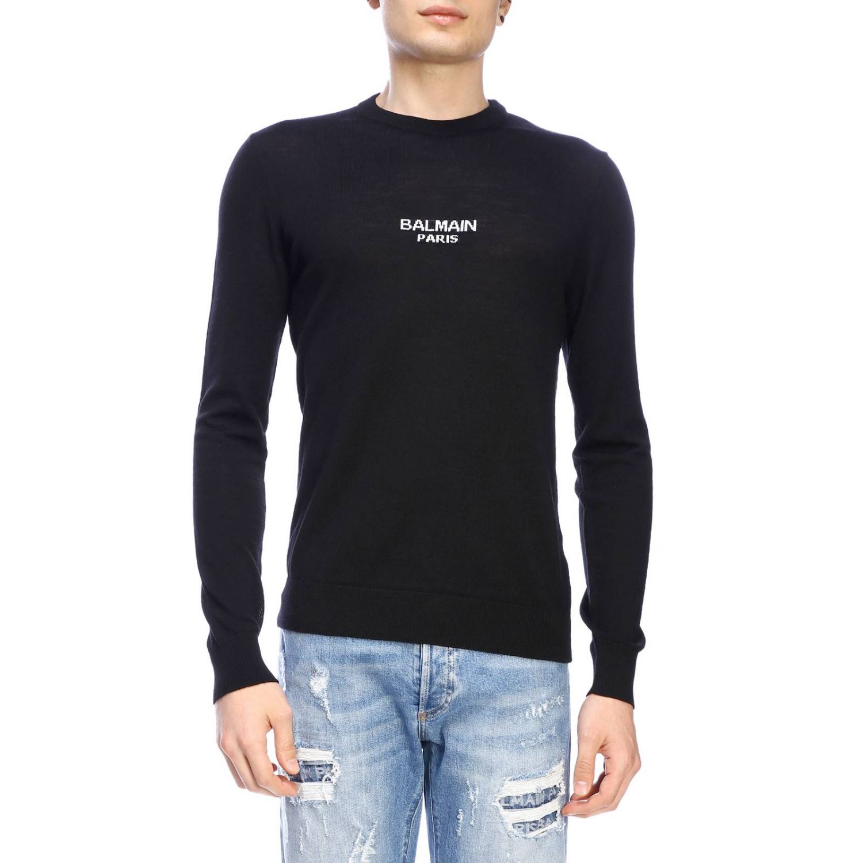 Sweater Balmain: Balmain crew-neck sweater with logo black 1