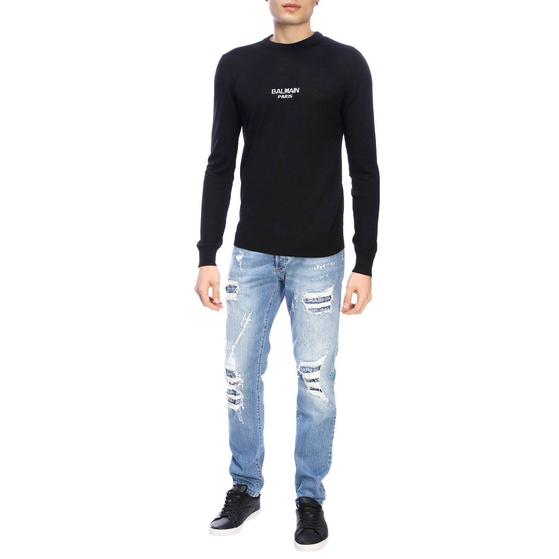 Sweater Balmain: Balmain crew-neck sweater with logo black 2