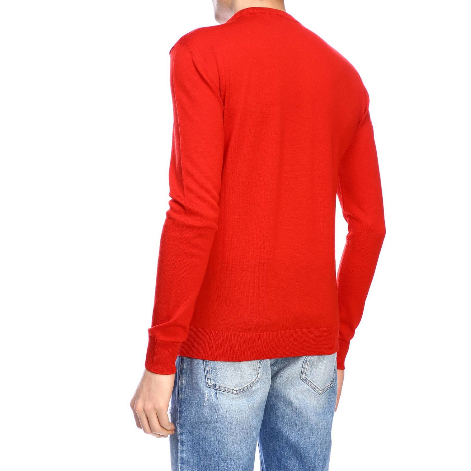 Jumper Balmain: Balmain crew-neck jumper with logo red 3