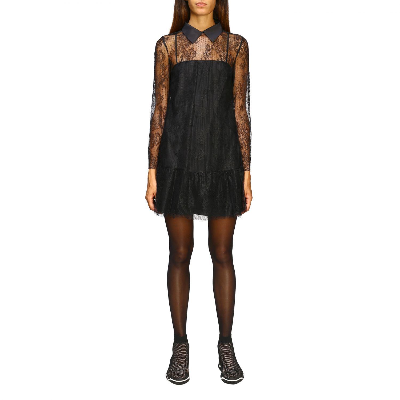 Kleid damen Red Valentino schwarz 1