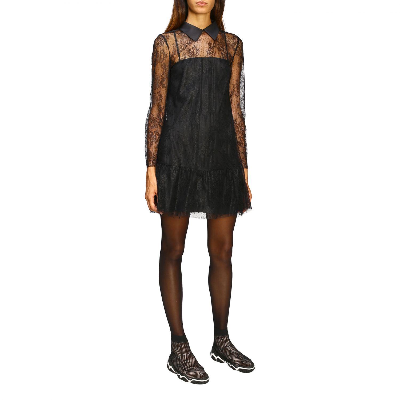 Kleid damen Red Valentino schwarz 2