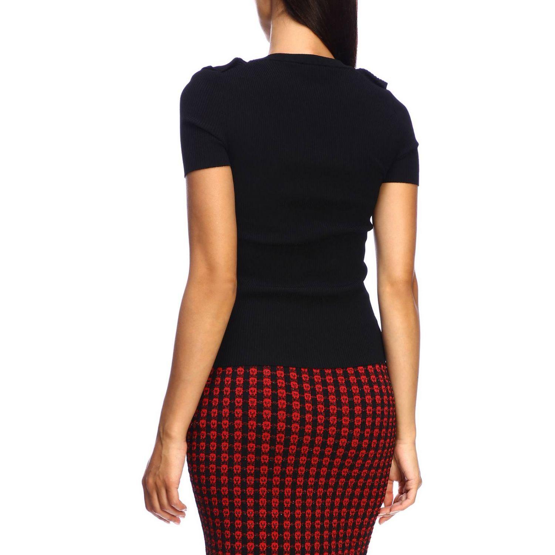 Red Valentino Kurzarmhemd mit Rüschen schwarz 3