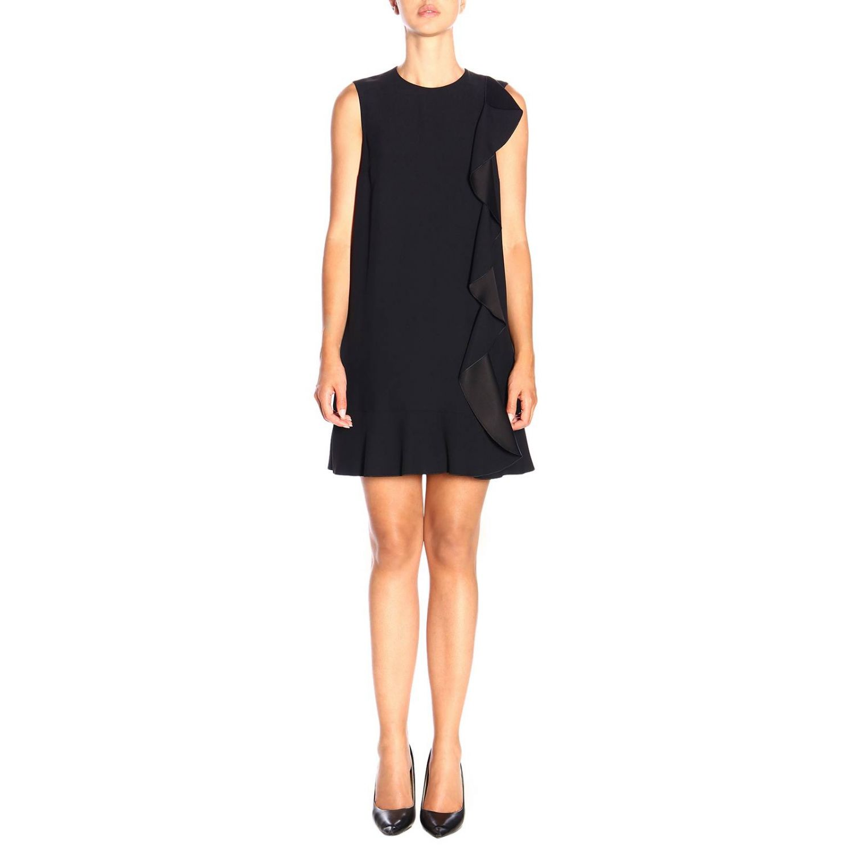 Ärmelloses Red Valentino-Kleid mit Rüschen schwarz 1
