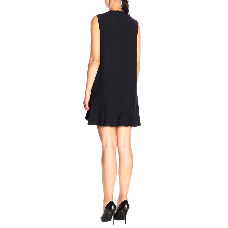 Ärmelloses Red Valentino-Kleid mit Rüschen schwarz 3
