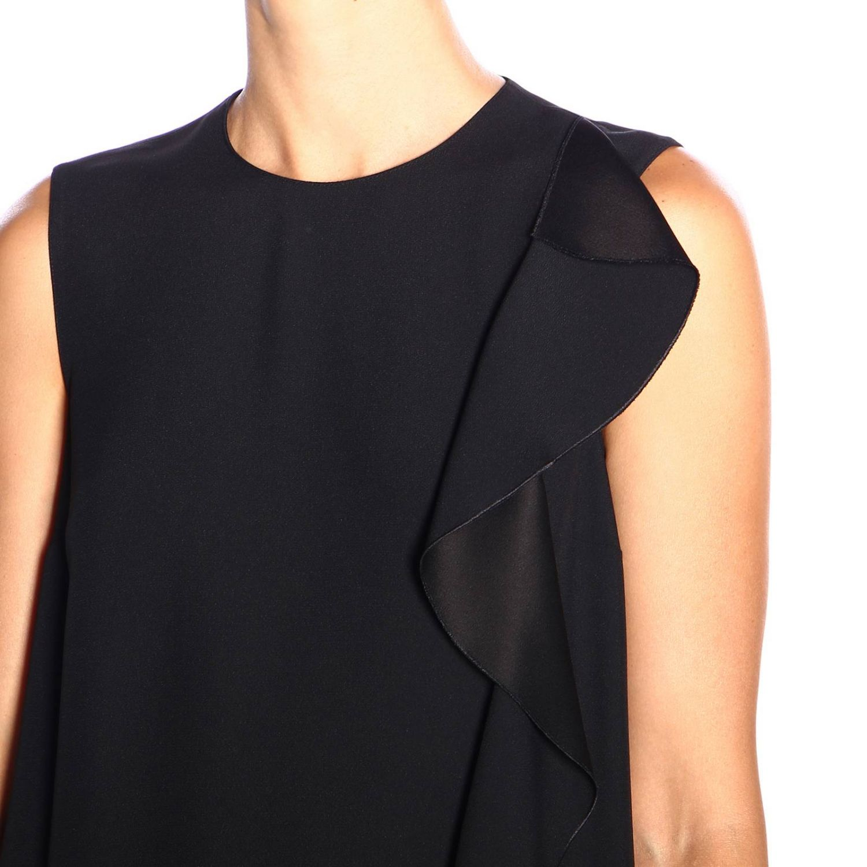 Ärmelloses Red Valentino-Kleid mit Rüschen schwarz 4