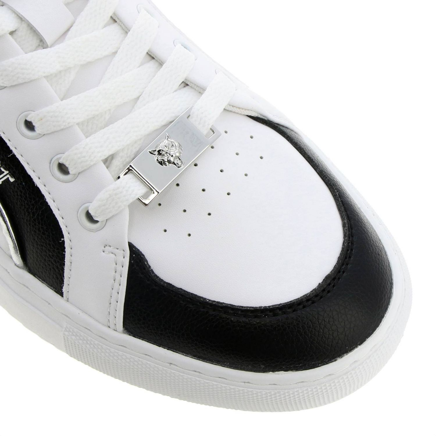 Lo-top Sneakers Cross Tiger Plein Sport in bicolor leather with logo white 3