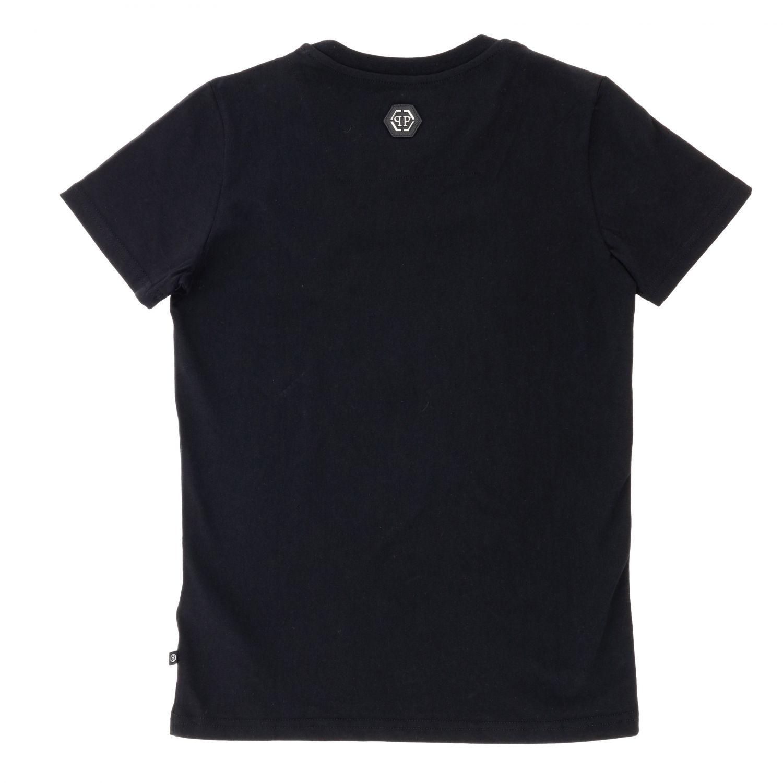 Philipp Plein T-shirt with round neck and maxi rhinestone skull black 2
