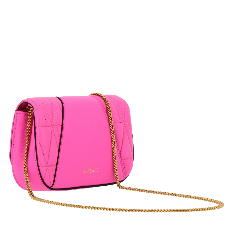 Mini bolso Versace: Bolso de hombro mujer Versace fucsia 3