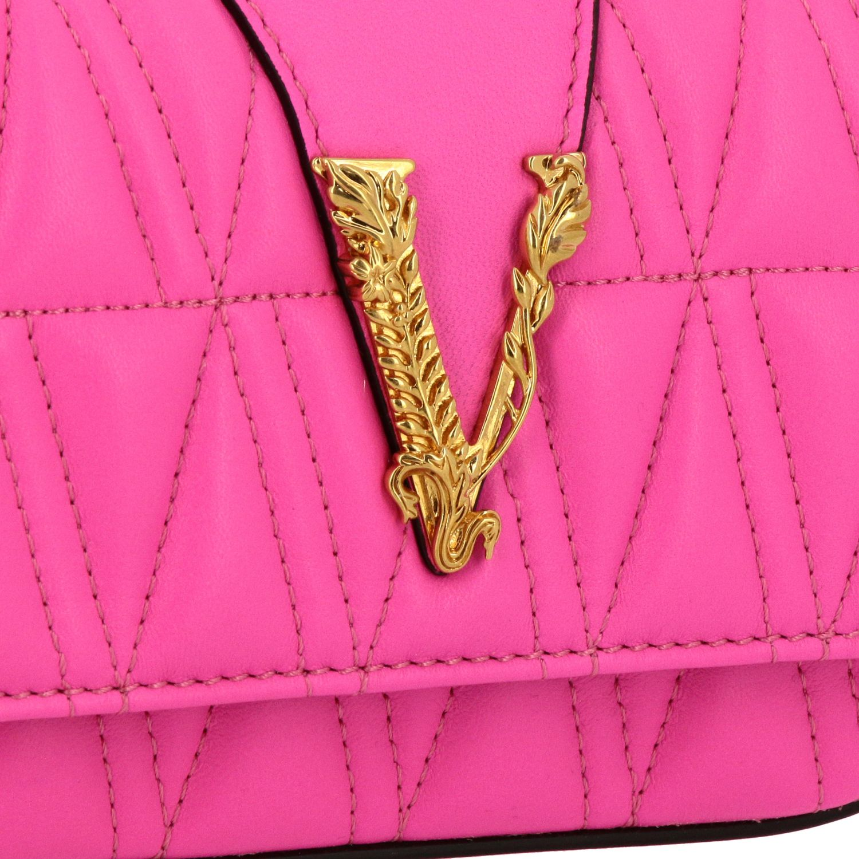 Mini bolso Versace: Bolso de hombro mujer Versace fucsia 4