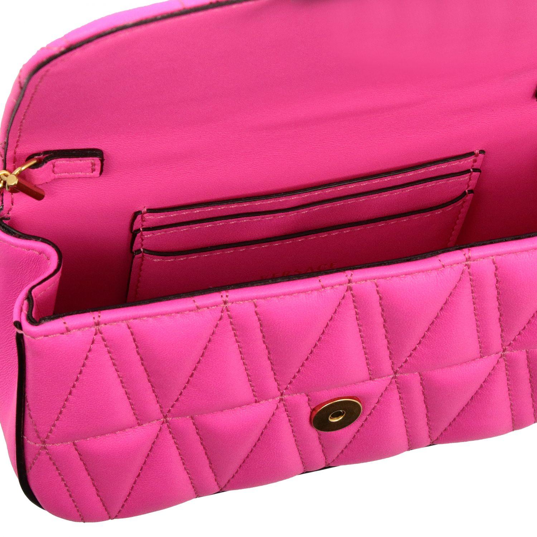 Mini bolso Versace: Bolso de hombro mujer Versace fucsia 5