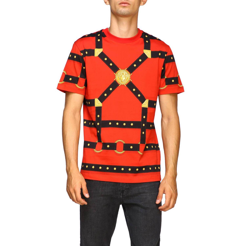 T-shirt men Versace red 1
