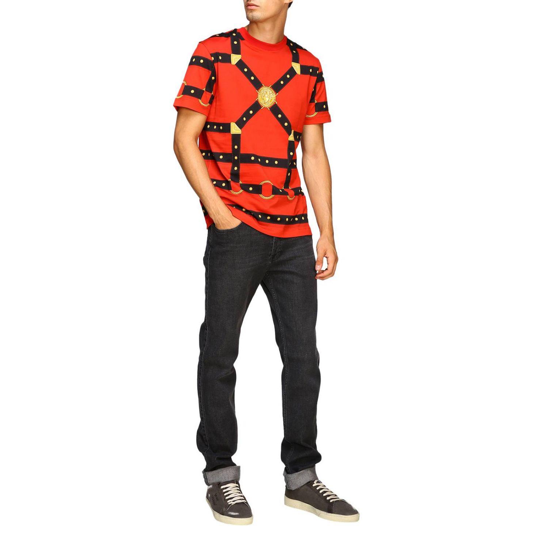 T-shirt men Versace red 2