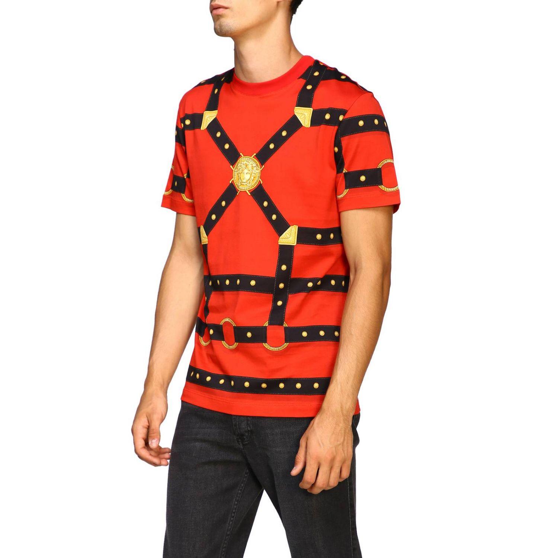 T-shirt men Versace red 4