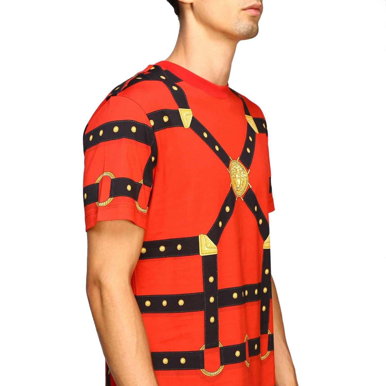 T-shirt men Versace red 5