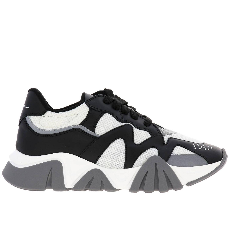 Кроссовки Squalo Versace из кожи и сетки черный 1