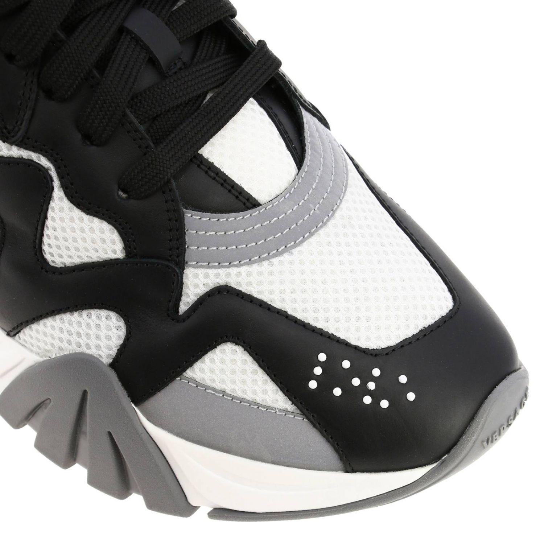 Кроссовки Squalo Versace из кожи и сетки черный 3