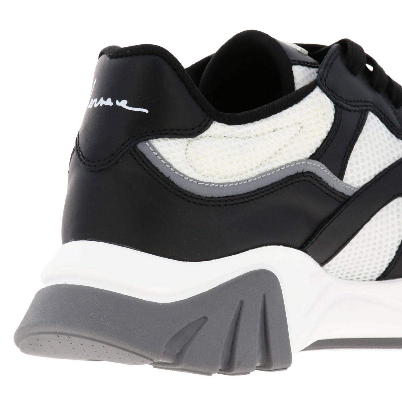 Кроссовки Squalo Versace из кожи и сетки черный 4