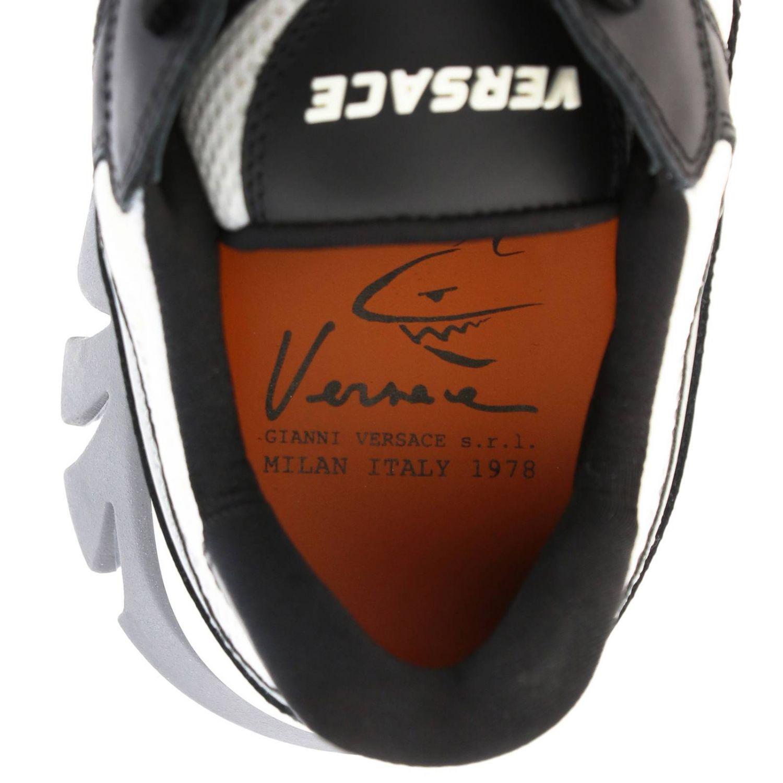 Кроссовки Squalo Versace из кожи и сетки черный 5