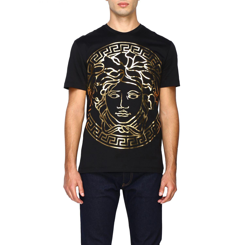 Camiseta Versace: Camiseta hombre Versace negro 1