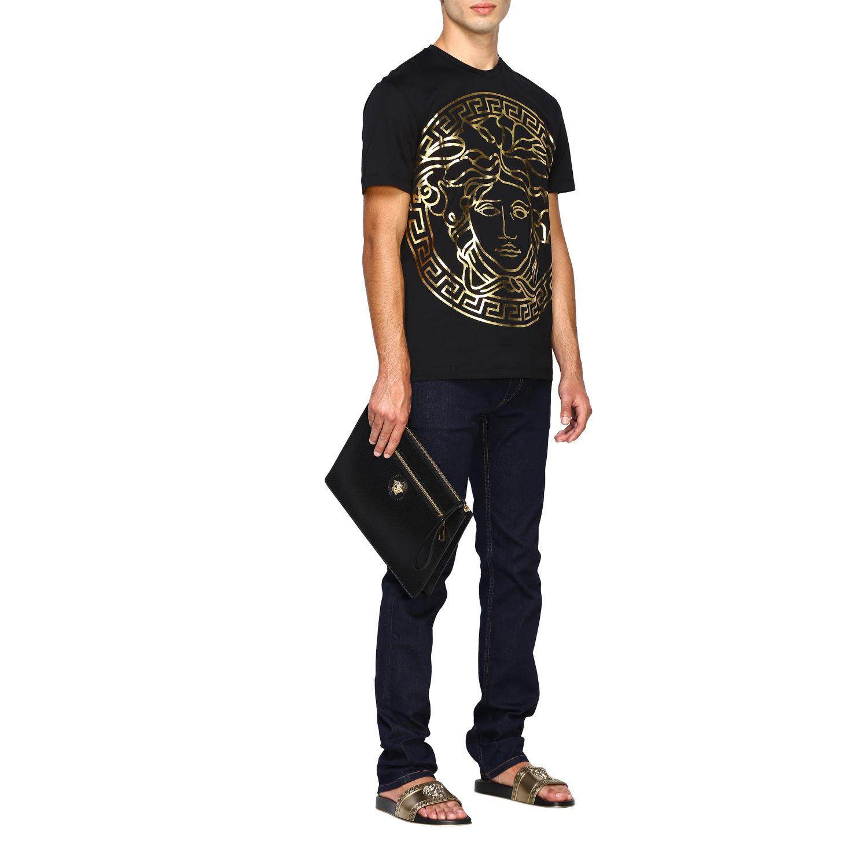 Camiseta Versace: Camiseta hombre Versace negro 2