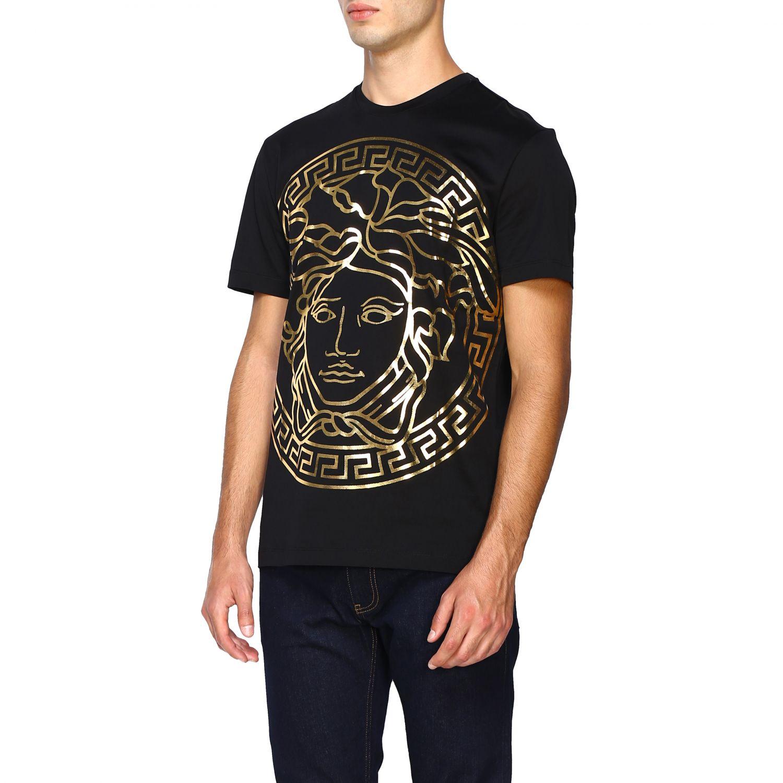 Camiseta Versace: Camiseta hombre Versace negro 4