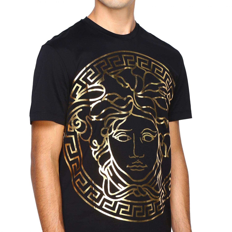 Camiseta Versace: Camiseta hombre Versace negro 5