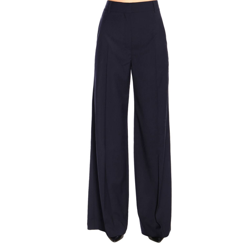 Pantalone Sonia Rykiel ampio a vita alta blue navy 1