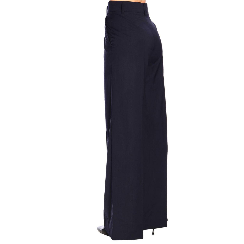 Pantalone Sonia Rykiel ampio a vita alta blue navy 3