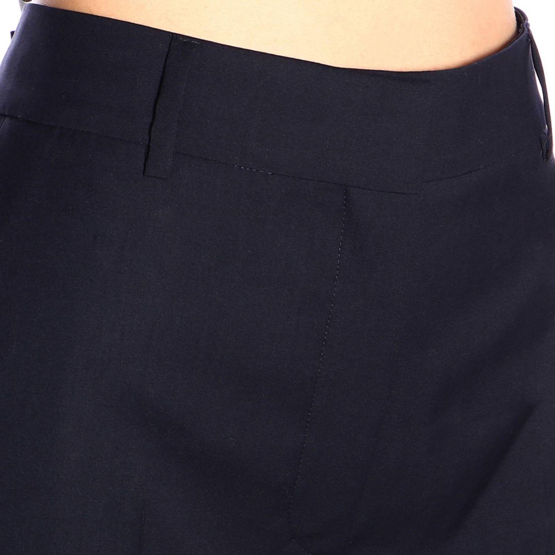 Pantalone Sonia Rykiel ampio a vita alta blue navy 4