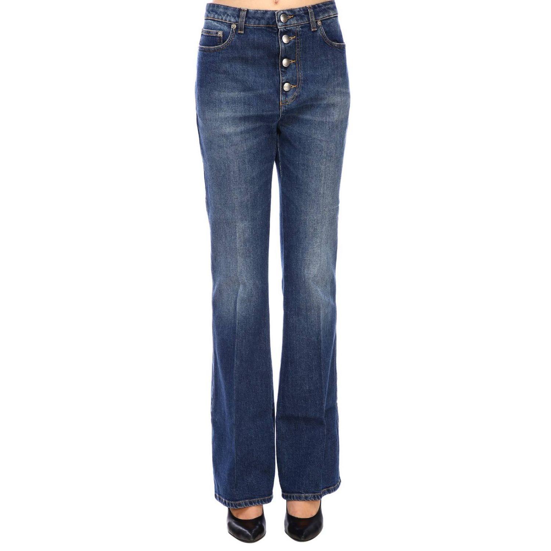 Jeans Sonia Rykiel in denim stretch a zampa denim 1