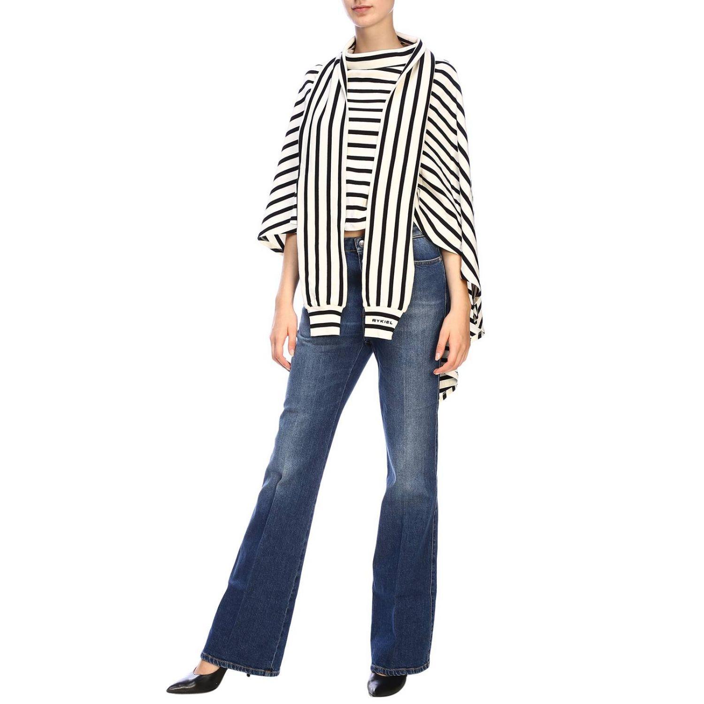 Jeans Sonia Rykiel in denim stretch a zampa denim 4