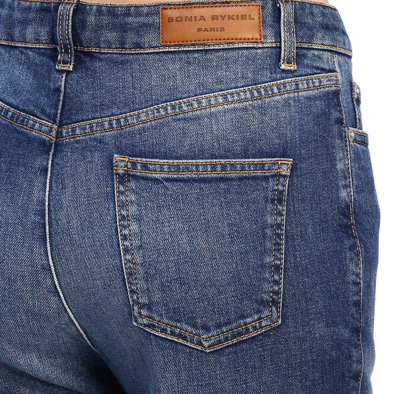 Jeans Sonia Rykiel in denim stretch a zampa denim 3