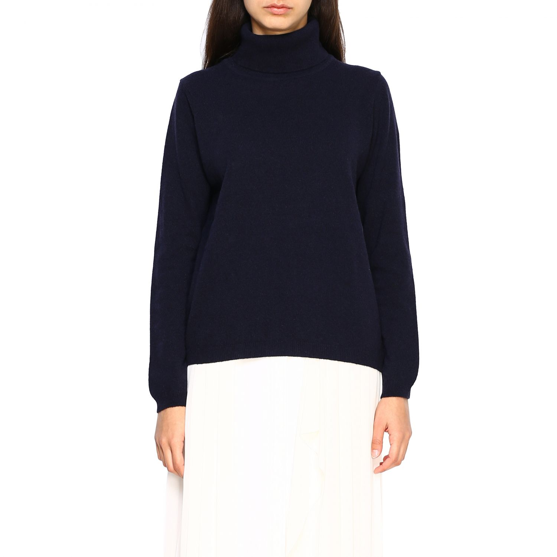 Pullover damen Re_branded blau 1