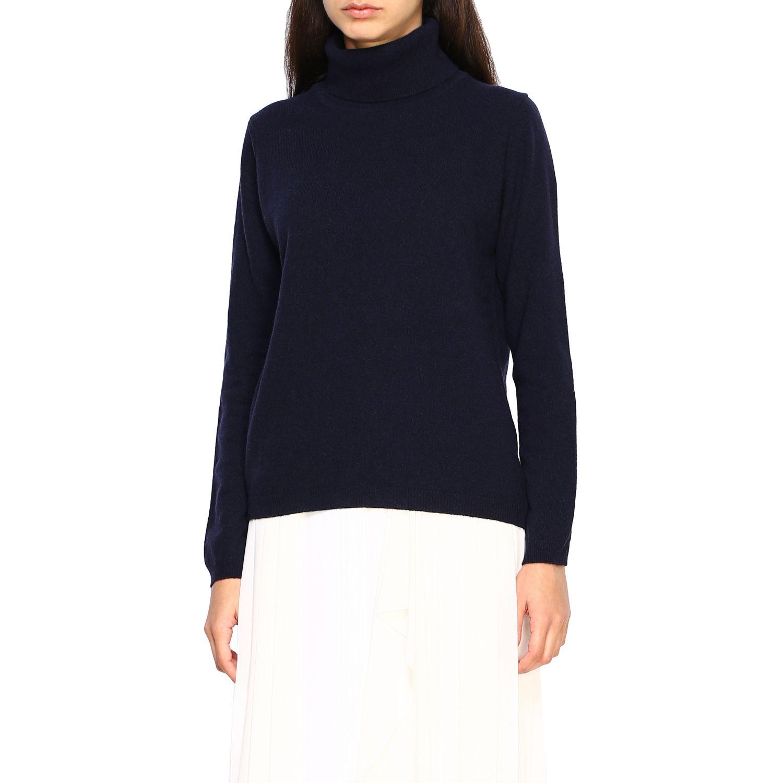 Pullover damen Re_branded blau 3