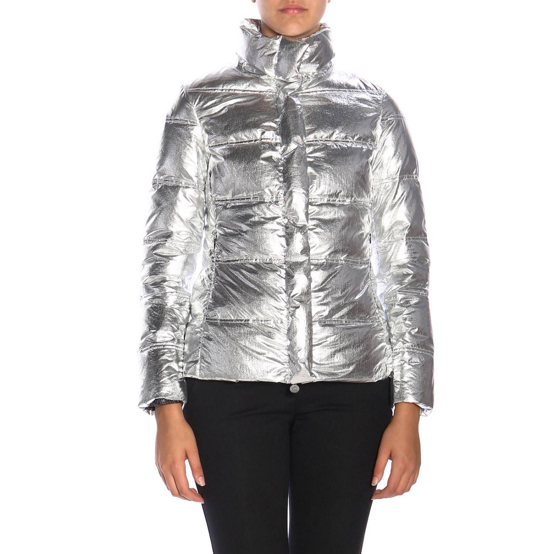 Giacca Emma & Gaia: Piumino nylon laminato argento 1