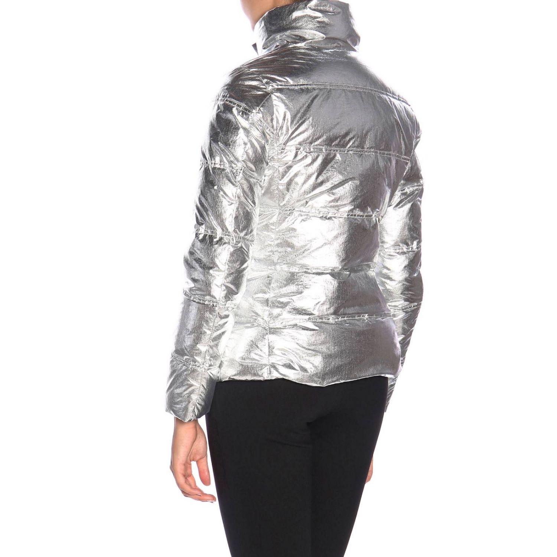 Giacca Emma & Gaia: Piumino nylon laminato argento 3