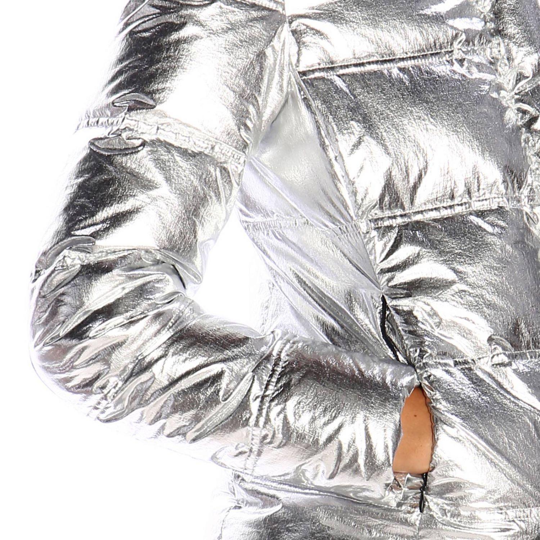 Giacca Emma & Gaia: Piumino nylon laminato argento 4