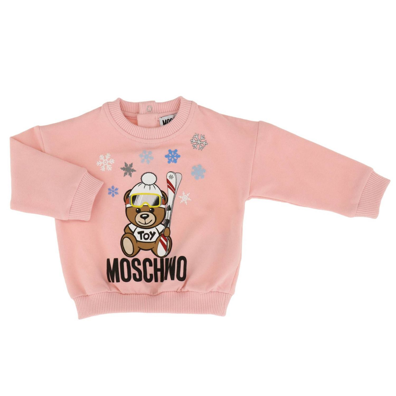 Pullover kinder Moschino Baby pink 1